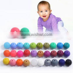 2016 Coloreful Silicone Teething Beads Silicone Jewelry Beads Wholesale Kids Beads