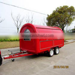 mobile gas hot dog cart with fryer for sale XR-FC350 D