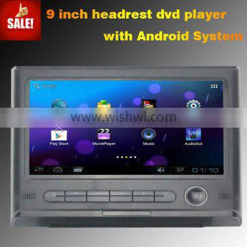 HD Touch screen 9 inch car dvd headrest android car dvd
