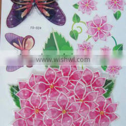 3D flower room sticker decor