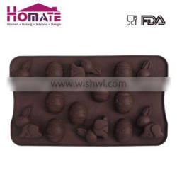 Silicone chocolate mould with Easter rabbit for cake decoration