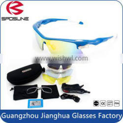 High quality fashionable UV400 impact resistant 5lenses sport glasses with FDA