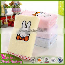 Lovely Super Soft Rabbit Embroidered Microfiber Small Hand Towel