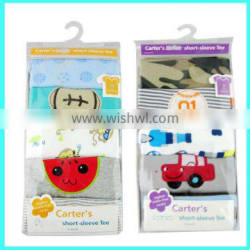 Wholesale 5 pack baby T shirt with random color, custom baby t shirts maker