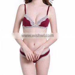ladies lace bra and brief set for women underwear with bonding panties