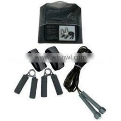 3 In 1 Fitness Set hand grips, wrist weights and jump rope