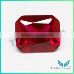 Best price octagon cut 8# synthetic corundum dove blood lab created ruby