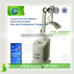 3 Colors red blue green photon led light therapy photofacial machine