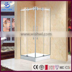 Stainless Steel Square Double Sliding Frameless Simple Enclosed Shower Cabin(KT5347) Quality Choice