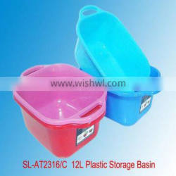 Manufacturer Wholesale Price PP Plastic 12L Square Basin with Handles for Household
