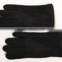 Men's goat suede gloves with the back of three line