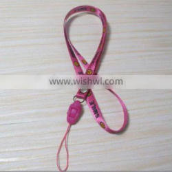 Polyester lanyard with smile