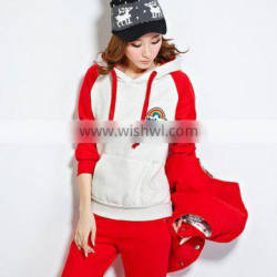 new design long sleeve track suit for ladies