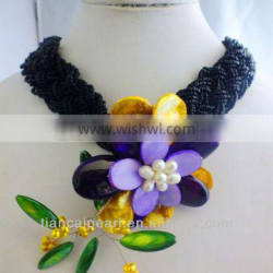 Clearence!!! DC135fashion popular pearl flower necklace for african bride wedding