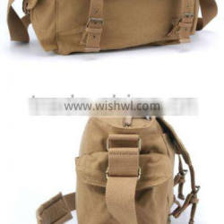 Vintage Canvas Casual pocket leather DSLR SLR Camera laptop Bag Shoulder Bag For Canon Nikon Camera Use Waterproof