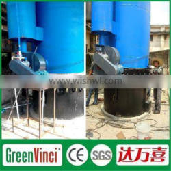 Vertical and horizontal heat blower used rubber drying biomass gasifier