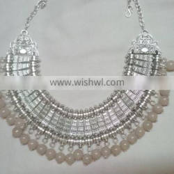 Tribal Style latest Design coin weave necklace trendy style 2015