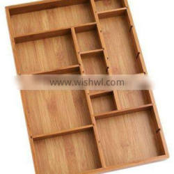 Wooden Trays For Home Use wholesaler bamboo Wood Organizer Trays