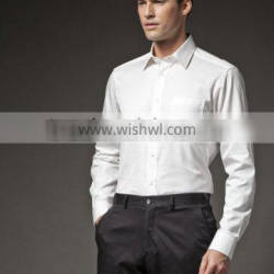 HOT sale! 2015 Summer weared men's white business shirt ! 100% cotton