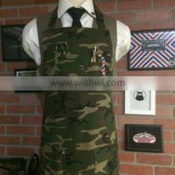 Custom Full Printing Canvas Apron For Barber