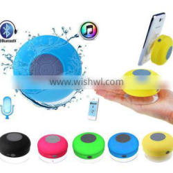 Portable Waterproof Wireless Bluetooth Speaker Car Suction Phone Mic For iPhone