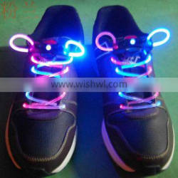 New led flashing shoelaces led shoelaces with different color