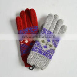 China factory wholesale ladies cotton knitted gloves