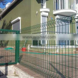 Hot sale 5-7mm PVC or powder coated square welded wire mesh fence /curved galvanized reinforcing welded wire mesh fence