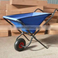Folding garden leaf cart with water proof cloth