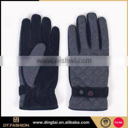 Good quality cheap leather gloves length match snow gloves