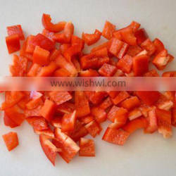 Supply hot sale IQF Red Pepper Diced with good quality