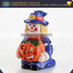Tea light candle holder decorative clown ceramic Counterpoint china