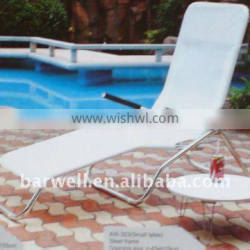 Aluminum folding sun lounger