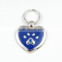 Promotion HIGH QUALITY Existing Mold Gold Silver Rhinestone Metal Pet Tag
