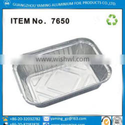 foil containers 750 ml food use take away aluminum foil container with lid No 7650