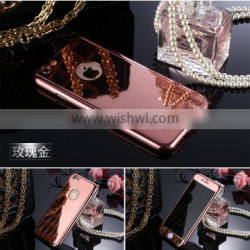 360 degree whole protective mirror phone case for iPhone with tempered glass screen protector
