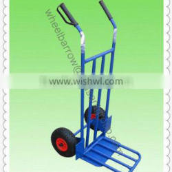 high quality transportation hot sales two wheels convenient Multi-function stainless platform hand truck HT1827 load 250kg