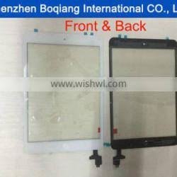 For iPad Mini 1 ipad Mini 2 Replacement Parts Touch Panel Screen Digitizer Glass +IC Connector + Home Button Flex