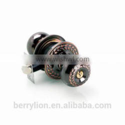 Berrylion good look plating red bronze S shaped door lock