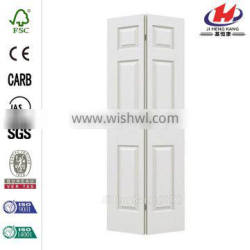 72 in. x 80 in. Woodgrain 6-Panel Hollow Core Molded Interior Closet Bi-fold Door