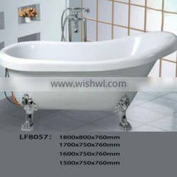 Europe Freestanding Bathtub with Legs Acrylic