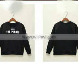 women simple fashion Sweatshirt with letter printed
