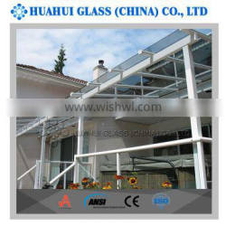 high quality laminated tempered canopy safe glass with CE ISO ANSI certificated