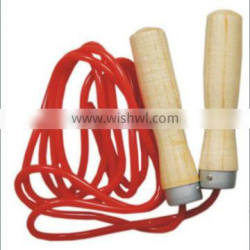 High Quality Pakistan Wooden Handle PVC Cord Jump Rope