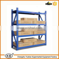 Blue color four floors metal supermarket storage rack