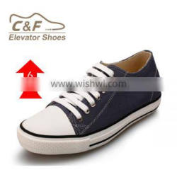 Canvas Upper men height increasing shoes