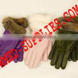 fur lining gloves High Quality Leather Gloves