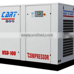 160KW 220HP China variable frequency screw air compressor