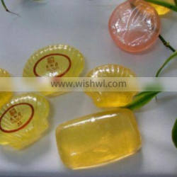 Hotel customize soap with logo transparent soap