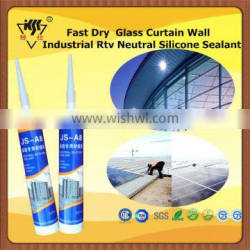 Fast Dry Glass Curtain Wall Industrial Rtv Neutral Silicone Sealant